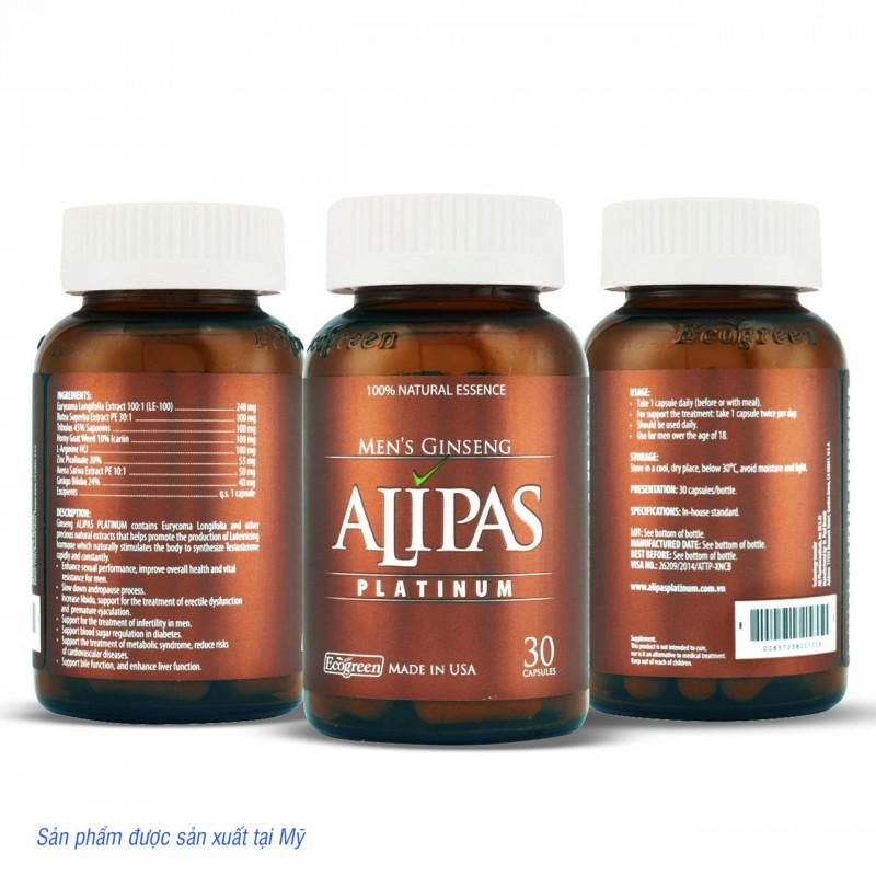 Viên ALIPAS Platinum tăng cường sinh lý nam
