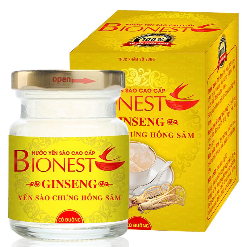 Yến sào Bionest Ginseng hồng sâm cao cấp - 1 lọ