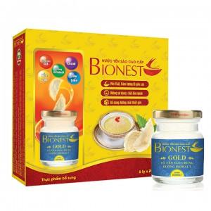 Hộp Yến sào Bionest Gold đường isomalt cao cấp - hộp tiết kiệm 6 lọ
