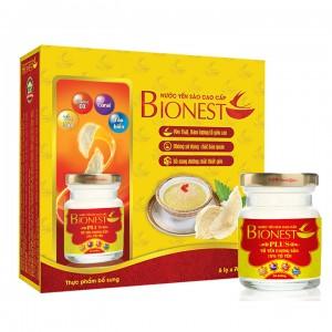 Hộp Yến sào Bionest Plus cao cấp15% - hộp tiết kiệm 6 lọ