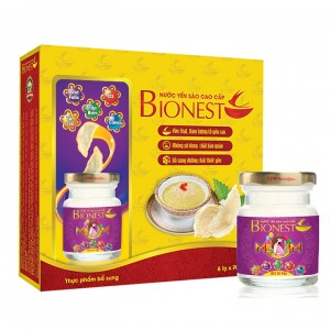 Hộp Yến sào Bionest Mum cao cấp 18% - hộp tiết kiệm 6 lọ