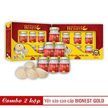 Bộ 2 hộp Yến sào Bionest Gold cao cấp - hộp quà tặng 6 lọ