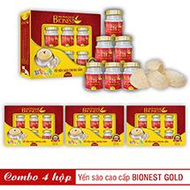 Bộ 4 hộp Yến sào Bionest Gold cao cấp - hộp quà tặng 6 lọ