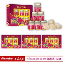 Bộ 4 hộp Yến sào Bionest Kids cao cấp - Quà tặng cho bé biếng ăn 6 lọ