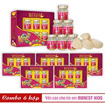 Bộ 6 hộp Yến sào Bionest Kids cao cấp - Quà tặng cho bé biếng ăn 6 lọ