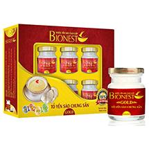 Hộp Yến sào Bionest Gold cao cấp - hộp quà tặng 6 lọ